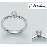 Miluna abbraccio della corona lid2013-d15 gioiello donna anello oro diamanti