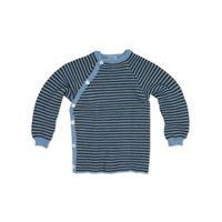 Reiff pullover in lana merino righe laguna/grigio