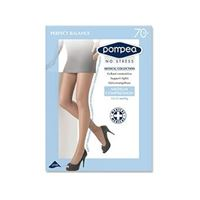 Pompea collant perfect balance contenitivo 70 den compressione media nero tag. 5