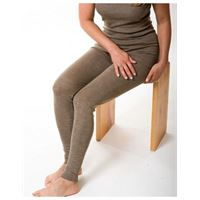 Engel leggings donna in lana mista seta col. Noce