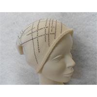 Italmaglia berretto strass 100% cashmere