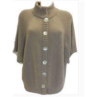 Italmaglia giacchino in maglia rasata calata con collo e bordi a coste in calda lana