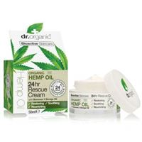 Dr. Organic crema viso intensiva 24hr rescue cream organic hemp oil 50 ml