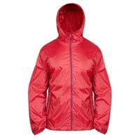 BREKKA giacca con cappuccio b-way impermeabile rossa uomo