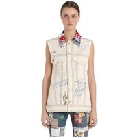 TOMMY HILFIGER COLLECTION gilet in denim con patchwork