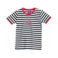 Living Crafts maglietta baby in cotone bio - col. Righe blu/ bianco