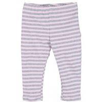 Popolini leggings in cotone - col. Righe rosa/grigio