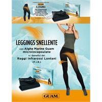 LACOTE-GUAM guam leggings snellente con alghe marine microincapsulate taglie: xs/s: 38-40, colore: nero