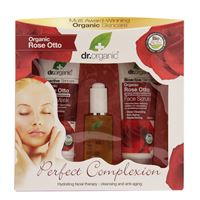 OPTIMA NATURALS Srl organic rose perfect complexion face treatment pack dr. Organic® cofanetto 3 prodotti