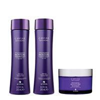 Alterna caviar replenishing moisture kit shampoo + conditioner + masque