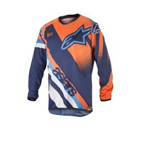 ALPINESTARS racer supermatic jersey - (dark blue/orange fluo/aqua)
