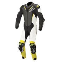 ALPINESTARS atem v3 leather suit - (black/white/yellow fluo)