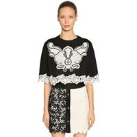 FAUSTO PUGLISI t-shirt in jersey con pizzo