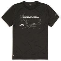 DUCATI - t-shirt da uomo originale DUCATI iron dream 98769466 in cotone stampa xdiavel