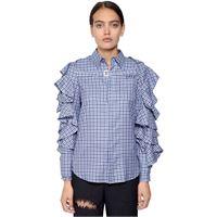 FACETASM camicia in cotone con coprispalle
