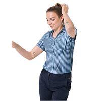 Jack Wolfskin da donna kepler shirt, donna, ocean wave checks, m