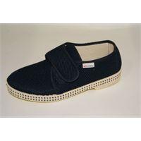 Superga pantofola Superga in tessuto blu con chiusura a strappo