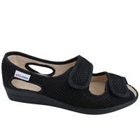 Pantofola superga con strappo in tessuto nero