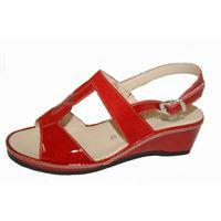 Susimoda sandalo Susimoda in camoscio e vernice rossi
