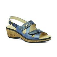 Susimoda sandalo Susimoda in pelle blu con plantare estraibile