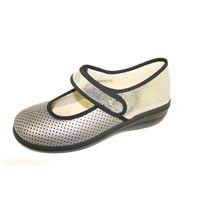 Sabatini Calzature scarpe sabatini in pelle elasticizzata grigia con plantare estraibile