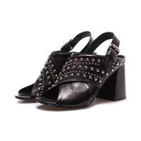 JUICE scarpe donna sandali nero borchie JUICE