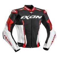 Ixon giacca moto pelle estiva Ixon vortex 2 nero bianco rosso