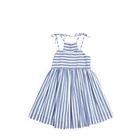 MILLY MINIS vestito in cotone chambray a righe