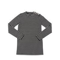 BALMAIN abito in maglia di cotone a righe