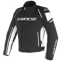 Dainese racing 3 d-dry giacca in tessuto nero