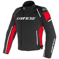 Dainese racing 3 d-dry giacca in tessuto rosso