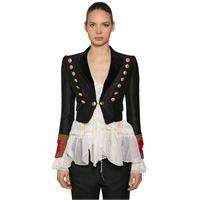 DSQUARED2 giacca bolero in lana e seta
