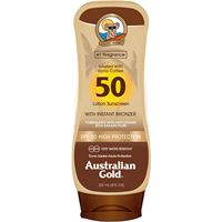 Australian Gold lotion sunscreen instant bronzer spf 50