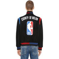 MARCELO BURLON COUNTY OF MILAN bomber nba in panno di lana