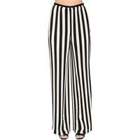 KRIZIA pantaloni in chiffon plissé