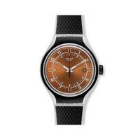 Swatch / irony x-lite / go jog / orologio unisex / quadrante arancione / cassa alluminio / cinturino silicone