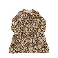 VIVETTA abito in flanella di viscosa leopard