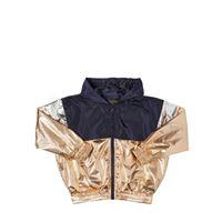 FINGER IN THE NOSE giacca in nylon metallizzato con cappuccio