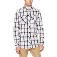 Wesc camicia da uomo claes shirt blue atlantic small
