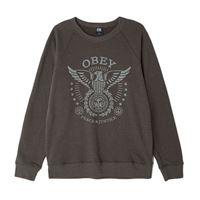 Obey felpa Obey peace & justice eagle crew neck vintage black