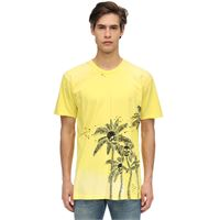 DOMREBEL t-shirt palm skull in jersey di cotone