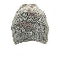 Cappello exquisite j in lana grigio melange con paillettes opache grigio