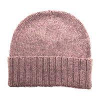 Cappello sud in puro cachemire colore rosa melange