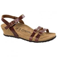 Birkenstock lana pull up leather cognac sandalo donna