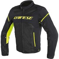 Dainese giacca air frame d1 tex nero giallo fluo