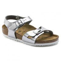 Birkenstock rio birkoflor silver sandalo bambina - calzata stretta