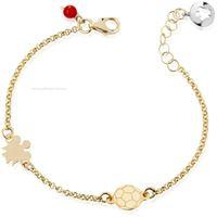 Roberto giannotti giardino degli angeli nkt275 gioiello donna bracciale oro 375 pietre