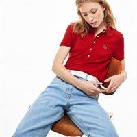 LACOSTE polo slim fit in mini piqué di cotone stretch