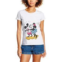 Disney mickey mouse minnie kiss top, bianco (white), 44 (taglia produttore: large) donna