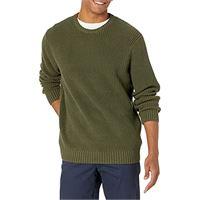 Goodthreads marchio amazon - Goodthreads - maglione a girocollo da uomo, in morbido cotone a costine, verde (solid olive), x-large (taglia produttore: x-large tall)
